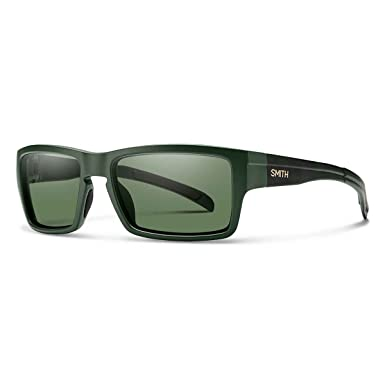 8c4b4204ba Smith OUCPGNMOC Outlier Mens Matte Olive Camo Frame ChromaPop Polarized  Gray Green Lens Wrap Sunglasses  Amazon.co.uk  Clothing