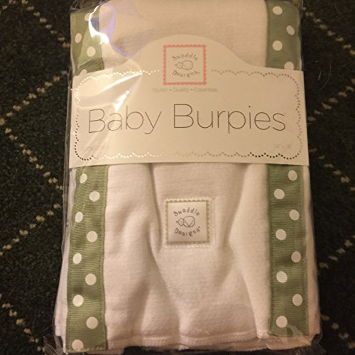 SwaddleDesigns Baby Burpies 2-pc. Set - Sage Mod Circles ()