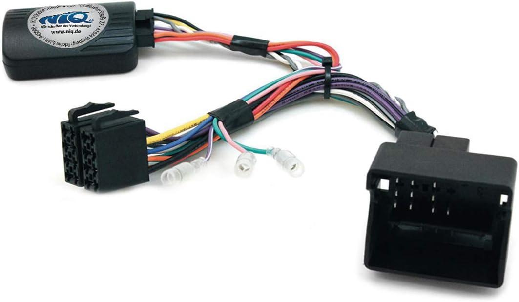 NIQ Adaptador CAN-BUS para mando a distancia en el volante compatible con radios JVC Citroen C2 C3 C4 C5 C8 Berlingo DS3