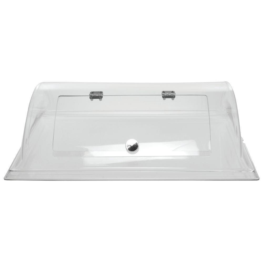 Cal-Mil Rectangular Clear PETG Dome Cover with Door - 26'L x 20'W x 7 1/2'H CAL MIL PLASTIC PRODUCTS INC