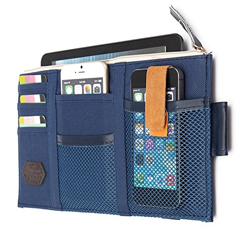 StyleZ Car Sun Visor Tidy Organizer Storage Bag Holder Pocket CD Case Card Pouch (Darkblue) (Organizer Sun Visor)