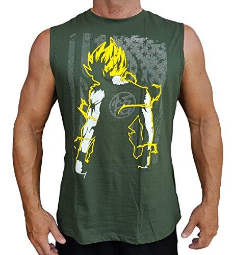 09c82d56ffd0d Goku Dragon Ball Z DBZ Men s Sleeveless Stringer Tank Top Shirt Green  X-Large - Buy Online in Kuwait.