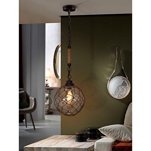 Schuller Spain 359458I4L Traditional oxide black Mesh Ceiling Pendant Hanging Ceiling Light Pendant 1 Light Dining Room, Living Room, Hallway | ideas4lighting by Schuller