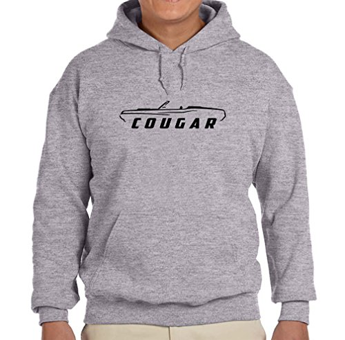1969 1970 Mercury Cougar Convertible Classic Outline Design Hoodie Sweatshirt 2XL grey 1970 Mercury Cougar Convertible