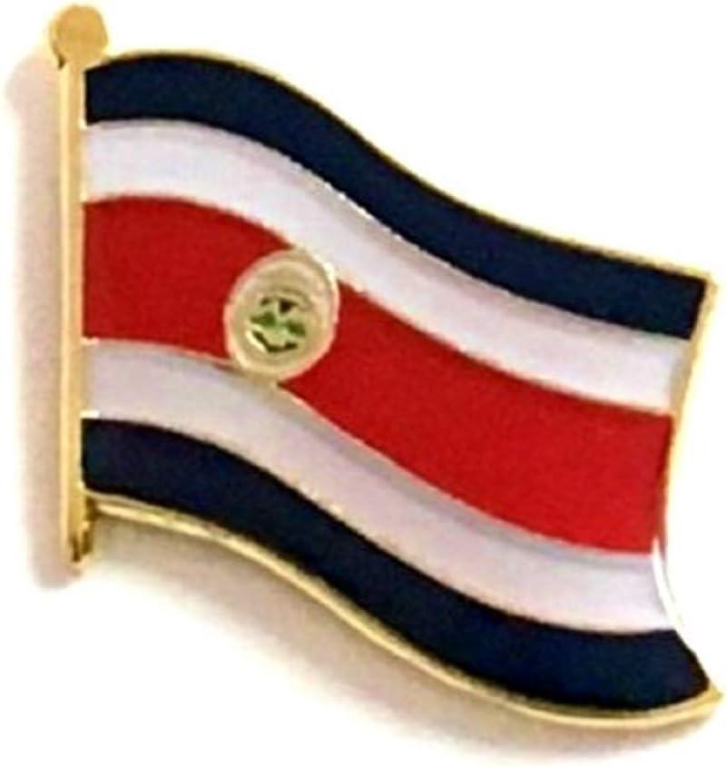 United States International Waving World Flag Lapel Pin Badge; One American Patriotic Country Hat Lapel Pin