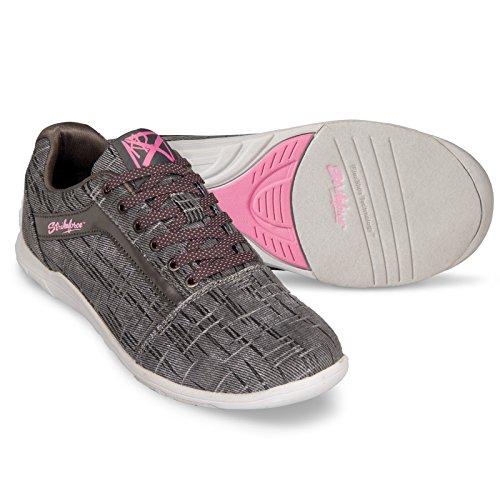 KR Strikeforce Womens Nova Lite Bowling Shoes- Ash/Hot Pink (9 M US, Ash/Hot Pink)