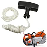Kicode Recoil Pull Starter Handle with Cord Line Rope for Petrol Starter Lawn Mower Engine Set of 2