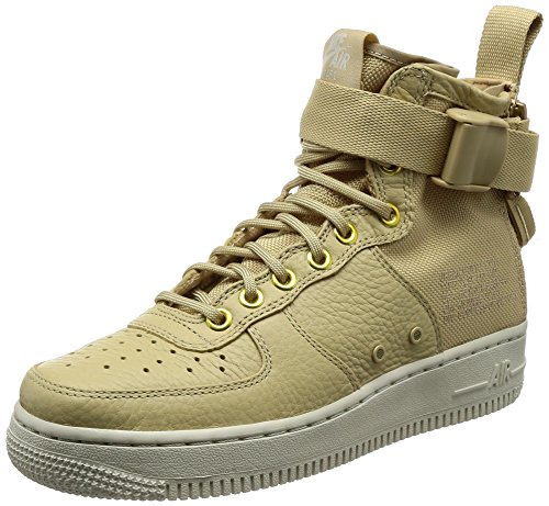 Nike Women's SF Air Force 1 Mid Mushroom/Light Bone Champignon (6 B(M) US)