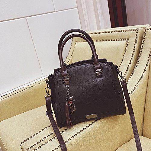 Gray Fashion New Bag Black Handbags Korean bag Xwan Tassel 6P0xwq