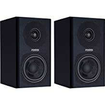 Fostex PMO.3B 3-Inch 2-Way Powered Digital Speaker System, Black, Set of 2