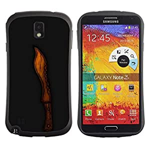 Be-Star Colorful Printed Design Anti-Shock iFace First Class Tpu Case Bumper Cover For SAMSUNG Galaxy Note 3 III / N9000 / N9005 ( Cool Wood Knife Cut Black Carved ) Kimberly Kurzendoerfer