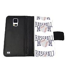 Baseball Mom Samsung Galaxy s5 Wallet Cover Case