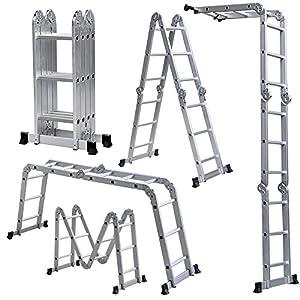 Light Weight Multi Purpose 12 Aluminum Ladder 300 Lb