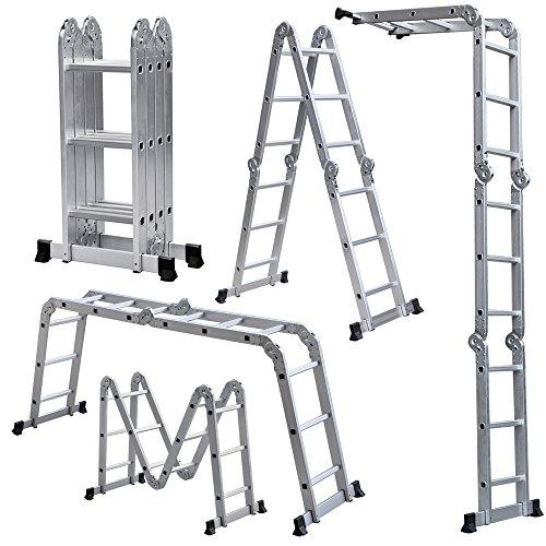 Light Weight Multi-Purpose 12' Aluminum Ladder - 300 LB Capacity