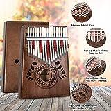 UNOKKI Kalimba 17 Keys Thumb Piano with Study
