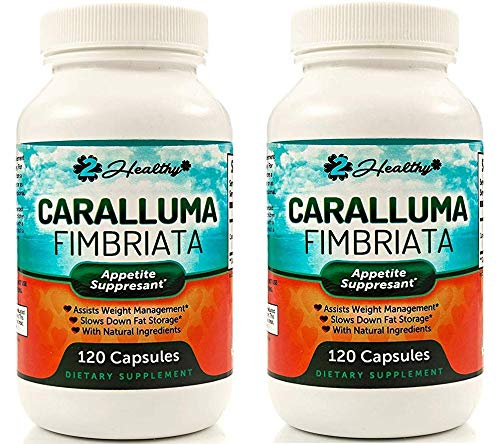 Pure Caralluma Fimbriata Extract 1200mg (120 Capsules) - Weight Loss Management Supplement & Keto Diet Pills, Natural Appetite Suppressant Support for Women & Men (2 Bottle)