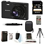 Sony Cybershot WX350 Digital Camera w/ 16GB SD Card Bundle
