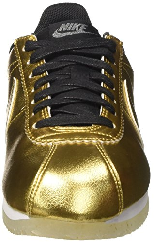 Nike Damen Wmns Classic Cortez Leather Se Trainer Gold (Metallic Gold/metallic Gold/white/black)