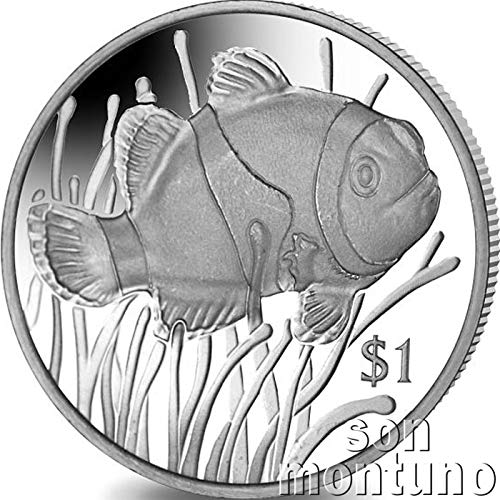CLOWNFISH - 2018 British Virgin Islands $1 Uncirculated Cupro Nickel One Dollar Coin - Limited Mintage of Only 10,000 Pieces - Anemonefish Clown Fish NEMO