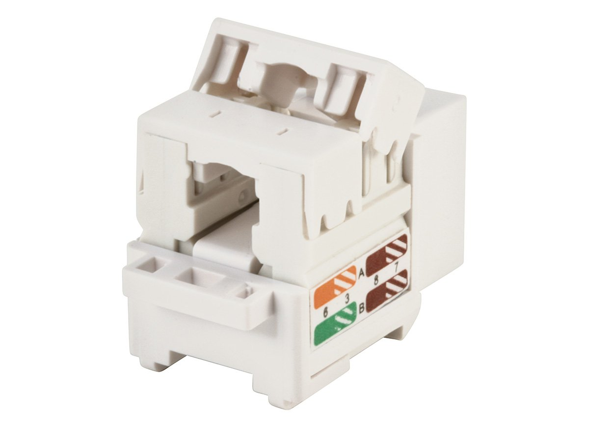 Monoprice Cat5e Punch Down Keystone Jack White 105376 Ethernet Wiring Computers Accessories