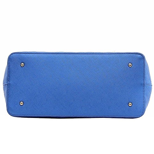 Guess Mujer korry Dome Satchel Bolso Azul metálico