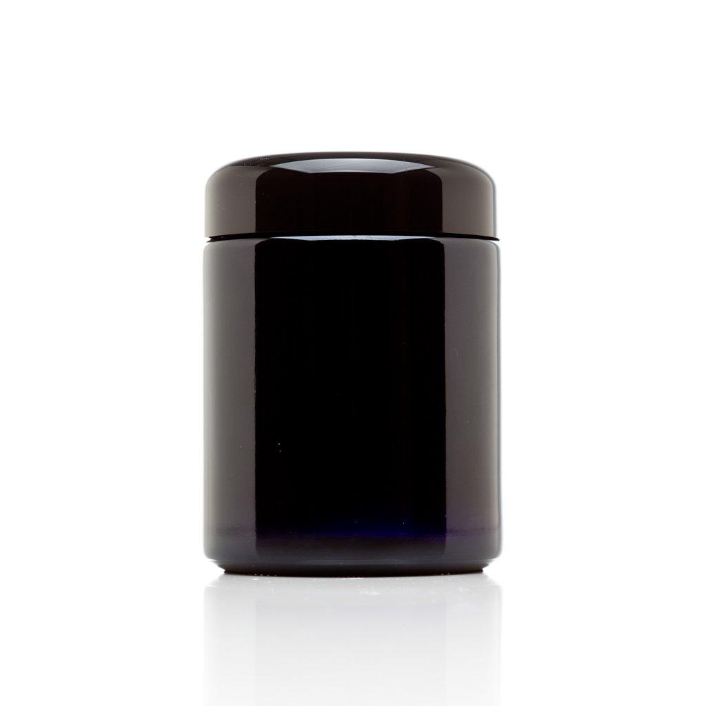 Infinity Jars 250 ml (8.3 fl oz) Tall Black Ultraviolet Refillable Empty Glass Screw Top Jar