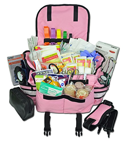 (Lightning X Ladies Pink Deluxe Stocked First Aid Bag EMT Responder Trauma Kit)