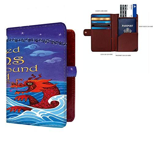 Shopmania Canvas Printed Premium PU Leather Passport Holder Travel Wallet Cover Case Credit card /& Money Storage Organizer SPHW-015