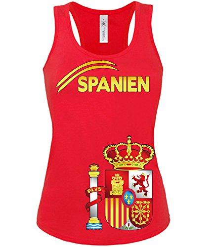 Copa del Mundo de fútbol - Campeonato de Europa de Fútbol - SPANIEN mujer camiseta Tamaño S to XXL varios colores S-XL Rojo