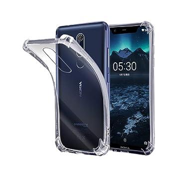 Electrónica Rey - Funda Anti-Shock Gel Transparente para Nokia 5.1 ...