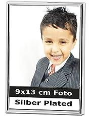 Silberkanne Bilderrahmen 9x13 cm Foto Silber Plated versilbert in Premium Verarbeitung