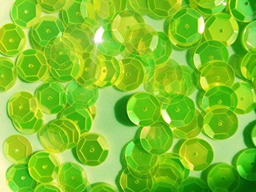 - Sequins 10mm 1000/Pkg Neon Green