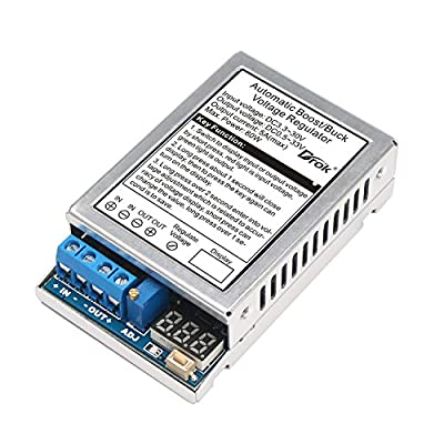 DROK® DC/DC Automatic Boost Buck Converter Module 60W Constant Voltage/Current Car Voltage Regulator DC5-32V to 1.25-20V Adjustable Current Step Up&Step Down Voltage Converter for Solar Energy LED Driver Battery Charging ¡­