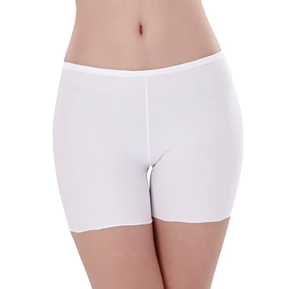 5d7789972e3e Mengonee Mujeres de Seda del Hielo Ropa Interior sin Costuras elástico  Safty Pantalones Cortos de exposición Anti