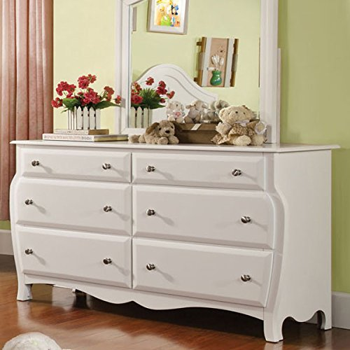 Roxana Cottage Style White Finish 6 Piece Full Size Youth Complete Bedroom Set by 247SHOPATHOME (Image #3)