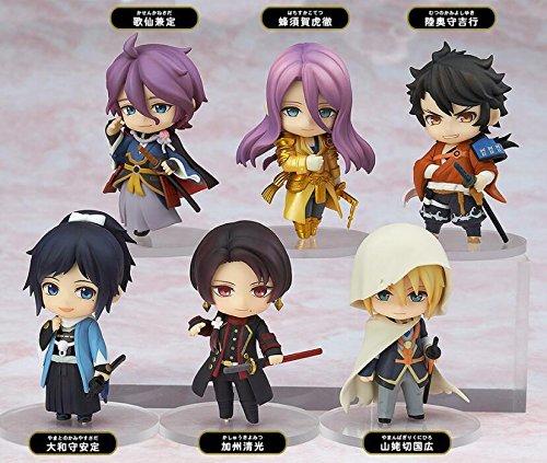 6pcs/Set Nendoroid Petit Touken Ranbu Online 1st Squad PVC Figure Toy Cute Gifts