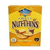 Blue Diamond Almond Nut Thins Cracker Crisps, Honey Mustard, 4.25 Ounce
