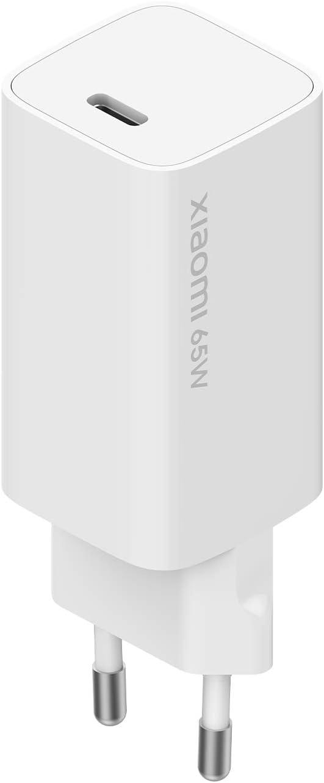 Xiaomi Mi 65W Fast Charger con GaN Tech, Caricatore per Smartphone e Notebook, Compatibile con Notebook Xiaomi/Apple/Huawei/Asus/HP/Lenovo/Dell, Cavo USB-C Incluso