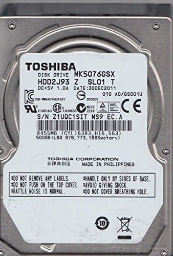 Toshiba MK5076GSX HDD2J93 Z SL01 T 500GB Philippines