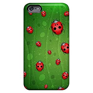 Personal mobile phone carrying cases Back Covers Snap On Cases for iphone 4 4s covers iphone 4 4s case 6p - red lady bugs