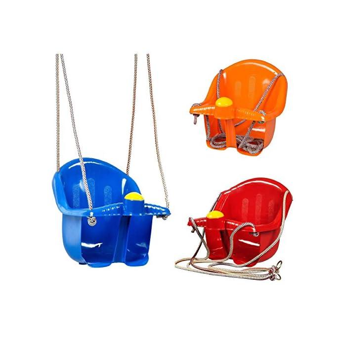51 EptiNL8L El asiento es fácil de instalar, suspendido por cuerda resistente Viene con un cuerno de plástico en la parte delantera Tiene una parte superior más alta para el apoyo
