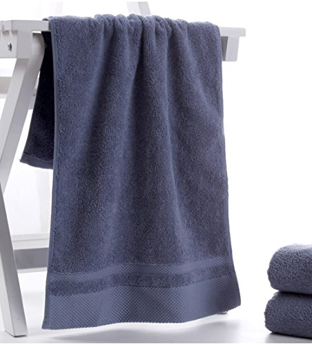 HONEYJOY 4 Pack Soft Luxury Hand Towels Set Hotel and Spa Quality 100% Ring Spun Genuine Cotton Towel, Multipurpose Use for Face, Bath, Gym, Spa, Family (White Grey Blue Khaki, 13.38 x 29.5 Inches) by HONEYJOY (Image #5)