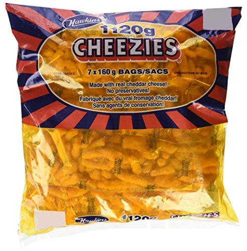 Hawkins Cheezies, 1120 Grams/39.5 Ounces - 7x160 gram Bags Made In Canada