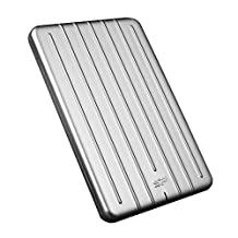 """Silicon Power 1TB Slim & Rugged Armor A75 Shockproof USB 3.0 (USB 3.1 Gen 1) 2.5"""" Portable External Hard Drive for PC, Mac, Xbox One, Xbox 360, PS4, PS4 Pro and PS4 Slim, Silver"""