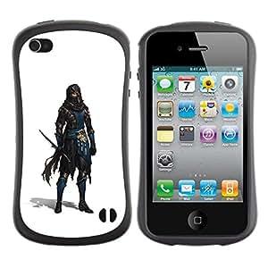 LASTONE PHONE CASE / Suave Silicona Caso Carcasa de Caucho Funda para Apple Iphone 4 / 4S / Swordsman White Thief Character Game