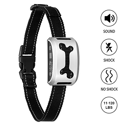Cheap COSEZIN Bark Collar, Shock Collar for Dogs with Beep Vibration Harmless Shock,Rain Proof Rechargeable No Bark Training Collar for Small Medium Large Dogs