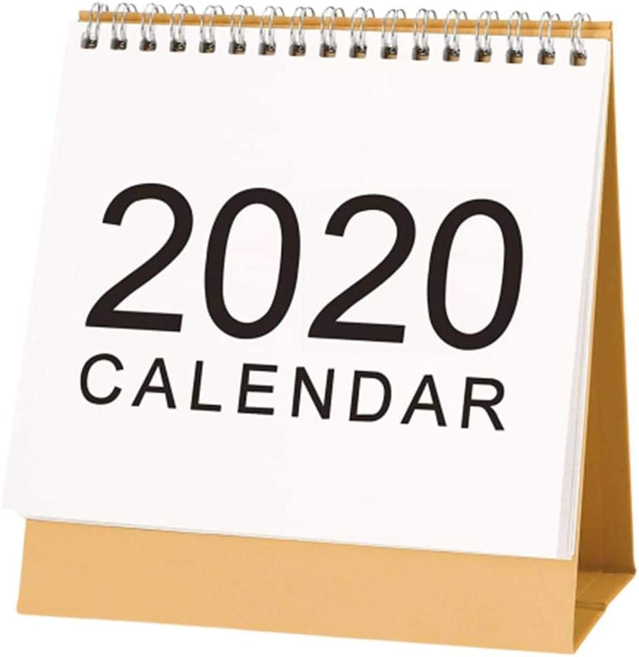 weemoment Small Desk Calendar 2019-2020 School Year,Double-Sided Desktop Calendar, Tent Standing Calendar, Easel Table Top Flip Calendar for Teacher, Mom Family Home Or Business Office