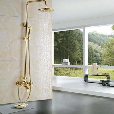 Mitigeur de douche de salle de bains de luxe doré robinets ...