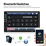 "Car Radio Double Din Car Stereo 7"" LCD Touch Screen in-Dash Head Unit with Bluetooth Support Mirror Link/DVR/USB/FM/SD/MMC MP3 +Rear View Camera& Remote Control"