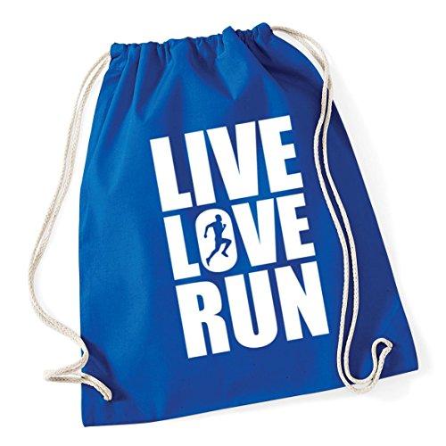 Royal HippoWarehouse 37cm Sack Gym x Drawstring 12 Kid School 46cm Cotton Bag Love Blue Live litres Run ZwqxnfZFB